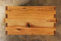 Mortise, tenon and finger joint detailing. Handmade of reclaimed oak, alder and sycamore in Los Angeles, California.