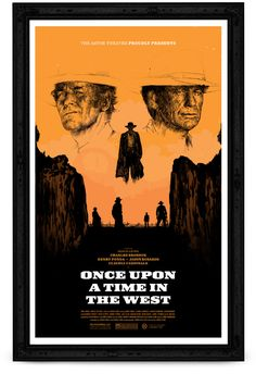 Once Upon A time in the west poster done by Oliver Barrett