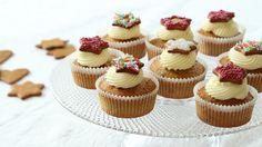 Julemuffins: Cupcakes med pepperkaker og ostekrem
