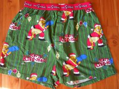 Ugly Christmas Boxer Shorts Homer & Marge Simpson  Mens M Merry Kissmas!  #TheSimpsons #Boxers