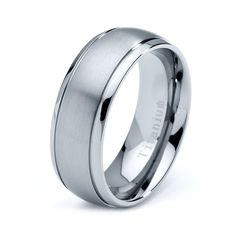 Titanium Wedding Band Men Titanium Rings Mens by GiftFlavors, $44.77