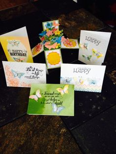 Watercolor card set and Card in a Box