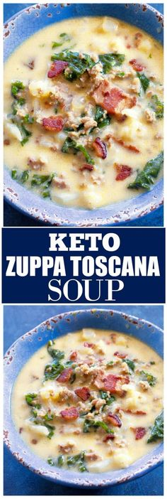 Low Carb Chicken Recipes, Healthy Low Carb Recipes, Ketogenic Recipes, Soup Recipes, Diet Recipes, Healthy Food, All You Need Is, Olive Garden Soups, Toscana Recipe