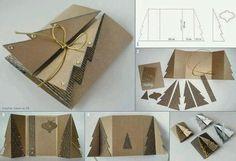 Natale sta arrivando: biglietti augurali con patterns e textures da pinterest