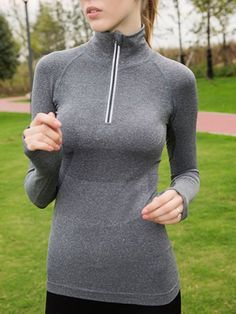 $14.11 Round Neck Long Sleeve Sport T-Shirt