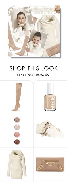 """""""#548 - Cool Neutrals"""" by lilmissmegan ❤ liked on Polyvore featuring Kendall + Kylie, Essie, Terre Mère, Stila, H&M, Balenciaga, Bobbi Brown Cosmetics and neutrals"""