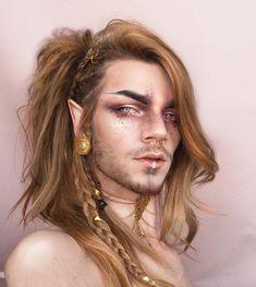 54 new ideas fantasy art men long hair elves Nils Kuiper, Chica Dark, Pretty People, Beautiful People, Photographie Portrait Inspiration, Viking Hair, Cosplay Costume, Fantasy Makeup, Elven Makeup