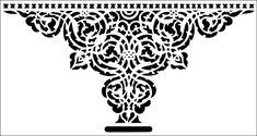 Alhambra Arch stencil from The Stencil Library ARCHITECTURE range. Buy stencils online. Stencil code AR24.