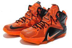 new product a7073 a8023 Lebron 12 ID XII Total Orange Black