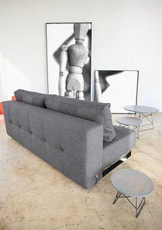 Supremax Deluxe Excess sofa - Dark grey Ifelt 629, $1659