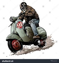Find Skull Bikers Riding Vintage Scooter stock images in HD and millions of other royalty-free stock photos, illustrations and vectors in the Shutterstock collection. Vespa Scooters, Vespa Vbb, Moto Scooter, Scooter Girl, Vespa Vintage, Vespa Vector, Vespa Logo, Bike Illustration, Bike Photography