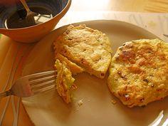 Herzhafte Lauchzwiebel-Pancakes mit Reismehl