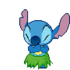 moving picture of stith | lilo and stitch transparent gif | WiffleGif