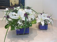 Table flower arrangement - Visual Impact  Floral Design - commercial   - Bothell, WA
