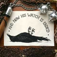 And Now His Watch Is Ended. Game of Thrones inspired Night's Watch back patch by Poison Apple Printshop