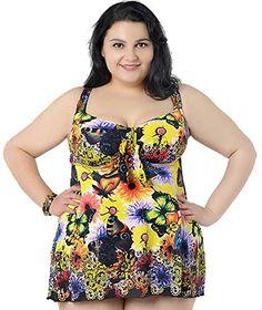 ce88f2cbd76 Women s Plus Size Swimwear Large Size Swimsuit for Fat Two Piece Swim Dress  Women 2018 Big Bathing Suit Female Swimsuits - Women Shopping