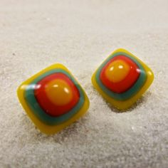 Cabo Fused Glass Earrings