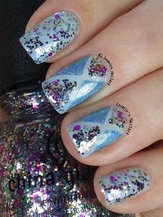 Sparkle Geometric #glamnailschallenge  #bomnailartmarch - Leonie's Nailart - IG leonies_nailart