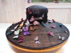 Butterfly Butterflies Hat by Liz Felix Millinery