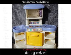 New Replacement Decals Stickers fits Little Tikes Family Kitchen Pastel Style Childrens Kitchens, Kitchen Decals, Little Tykes, Family Kitchen, Old Toys, Baby Items, All Design, Cleaning Wipes, Restoration