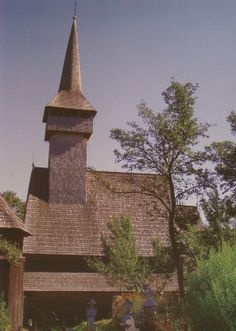 Botiza wooden church, general view Romania, House Styles, Places, Lugares