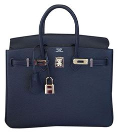 Herms New Birkin 25 Cm Togo Palladium Hardware BLUE NUIT Tote Bag. Get one  of ee5f61b4ecbb5