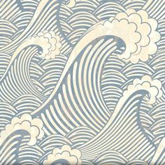 Vintage Waves - Would love to use as bathroom wallpaper, but the link is to a huge vector file so it would have to be custom. Perhaps spoonflower?