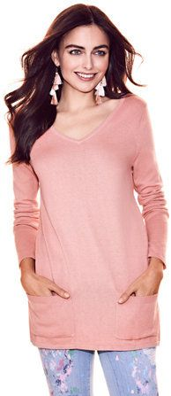 This would look great with leggings. #sweater #fashion #style