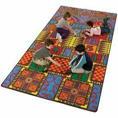 Children Educational Rugs Games That Teach 12x6 by FLAGSHIP CARPETS. $252.95. Games That Teach has a beautiful surface made for playing hopscotch, backgammon, Chinese checkers, checkers, Parcheesi, chess and many more games that kids and adults love to play. The rug is made of 100% nylon. The carpet meets or exceeds Class One fire ratings and CRI Indoor Air Quality Testing program Passed (Certification No. 14222878 Category IY). Life wear warranty and three Month Li...