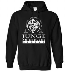 JUNGE an endless legend - #christmas tee #hoodie quotes. LOWEST PRICE => https://www.sunfrog.com/Names/JUNGE-Black-84013696-Hoodie.html?68278
