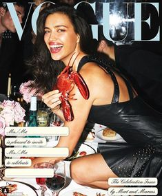 Table top: Ever since she was queened Miss Chelyabinsk 2004 at age 18, Irina Shayk has dreamed of landing her first Italian Vogue cover, which will finally hit newsstands this Tuesday