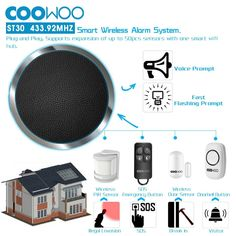 Home Automation Wireless Security, Providing Comfort and Protection with Advanced Technology Wireless Alarm System, Home Security Alarm System, Smart Home Security, Wireless Security, Safety And Security, Home Safety, App Control, Home Automation, Diy Kits