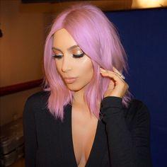 We imagine Kim Kardashian with pastel pink hair. Lush <3