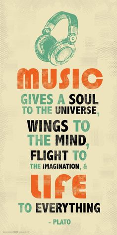 Amazon.com: Plato Music Inspirational Motivational Quote Decorative Poster Print 12x24: Posters & Prints