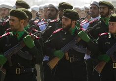 Members of Iran's Revolutionary Guards march during a parade to commemorate the anniversary of the Iran-Iraq war (1980-88), in Tehran September 22, 2010.  Photo By: REUTERS