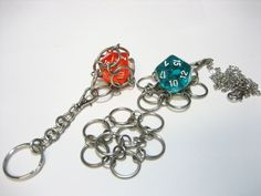 Swappable D20 Chain Mail Key Chain Choice of Colors by Sneath Chain Mail, Key Chain, Fairy Tale Crafts, Necklace Tutorial, Weekend Fun, Kids Crafts, Craft Projects, Craft Ideas, Jewelry Crafts