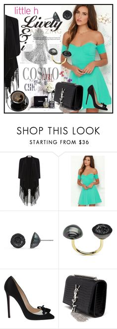 """""""Little h Jewelry"""" by lila2510 ❤ liked on Polyvore featuring мода, Soaked in Luxury, Pearl & Black, Christian Louboutin, Yves Saint Laurent, pearljewerly и littlehjewerly"""