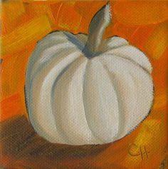 """Little Pumpkin no. 2"" - Original Fine Art for Sale - © Claire Henning"