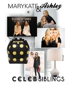 """celeb siblings"" by glitter-bug ❤ liked on Polyvore featuring Olsen, Elizabeth and James, GetTheLook and celebritysiblings"