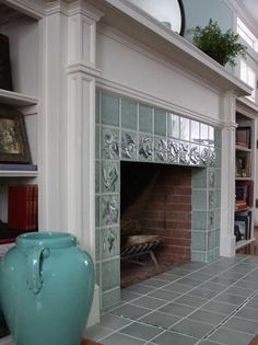 art deco tiled fireplace - Google Search