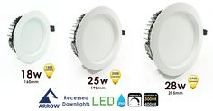 Lighting specialists Arrow Electrical offer their own brand of lighting products including ceiling, wall, crystal and LED Lighting at affordable prices Led Recessed Downlights, Led Down Lights, Shallow, Discount Price, Arrow, Bathrooms, Kitchens, Commercial, Hotels
