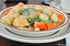 Chicken and Dumplings has always been one of my favorite recipes and even more so now with Skinny Slow Cooker Chicken Dumplings! Healthy Slow Cooker, Slow Cooker Recipes, Crockpot Recipes, Chicken Recipes, Cooking Recipes, Chicken Soups, Freezer Recipes, Crockpot Dishes, Korma