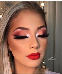 Now that is make-up goalzzz✨✨ Glam Makeup Look, Cute Makeup, Gorgeous Makeup, Pretty Makeup, Flawless Makeup, Skin Makeup, Eyeshadow Makeup, Beauty Makeup, Eyeshadows