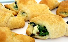 Spinach and Cheese Crescent Rolls - made these for a birthday party and they disappeared FAST!