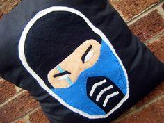 subzero mortal kombat ninja ice video game pillow cushion gift