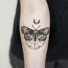 And now for something completely different... another moth #tattoo #moth…
