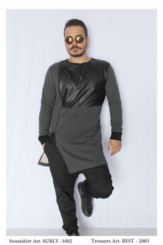 • NEW COLLECTION •   Sweatshirt Mod. SUBLY - 1002 Trousers Mod. BEST -2003  Model: Glori Velko  Contact: vekoss4@gmail.com