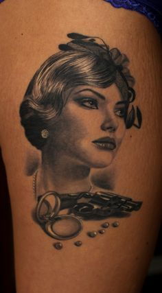 Healed.. beautiful woman in gangster age..