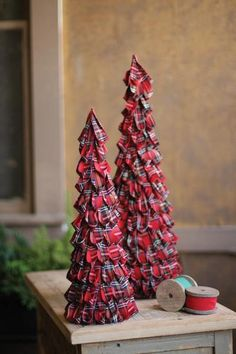 Plaid Christmas Trees - do you have a Scottish tartan?
