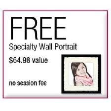 Get Free Wall Portrait at Sears
